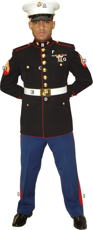 Marine Corps Dress Blues Uniform 90