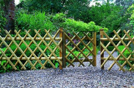 Bamboo Garden Fence And Gate
