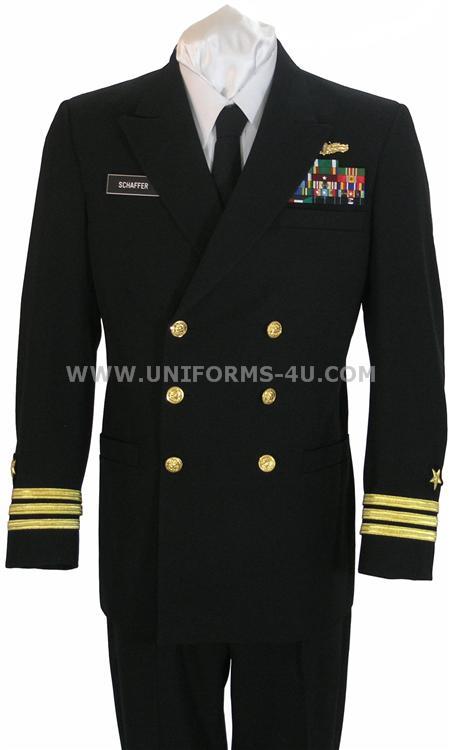 Edward's US navy dress uniform
