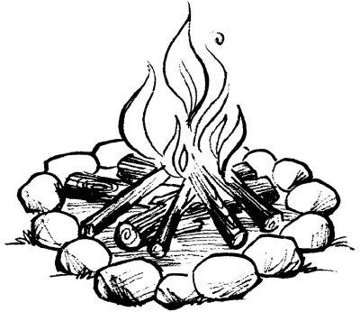 Camp fire sketch | JKazzie Fanfiction Blog